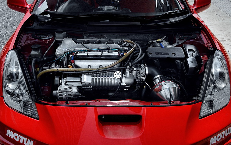 Toyota gifted this Celica with a high-revving 2ZZ-GE 4-cylinder 1800 cc ...