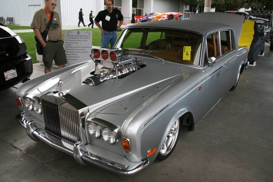 Rolls Silver Shadow Has Bds Blower Sticking Out Of Its